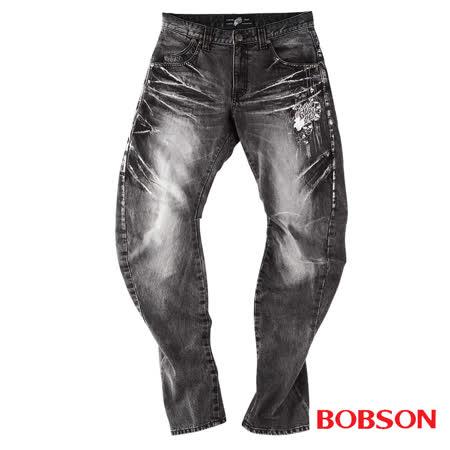 BOBSON 男款翻轉系列立體摺痕褲管翻轉牛仔褲(1774-87)