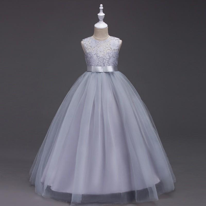 童裙夏款蕾絲花朵無袖兒童禮服公主裙 連衣裙 女童婚禮裙【IU貝嬰屋】