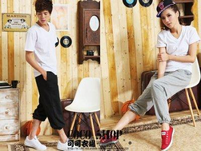 COCO SHOP【WTP106】台灣製造.休閒/運動.百搭素面.抽繩口袋/褲管縮口/實穿款 男.女薄棉褲 超值↘280