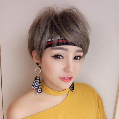 假髮女短髮bobo頭韓國波波頭狗啃劉海網紅蓬松修臉自然髮仿真帥氣