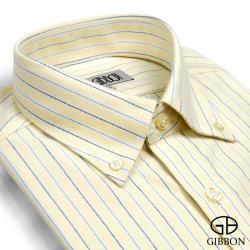 GIBBON 牛津條紋休閒襯衫‧黃色