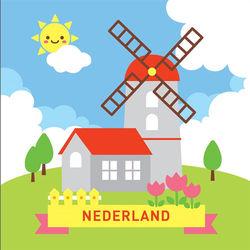 LOVIN 超萌韓版數字油畫城市系列 荷蘭(5)  1幅