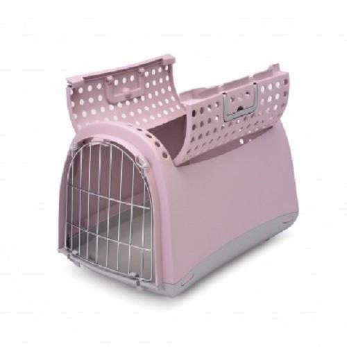 義大利IMAC《LINUSCABRIO寵物提籠-藍/粉紅》上開式提籠〔李小貓之家〕