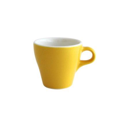 日本ORIGAMI 摺紙咖啡陶瓷 濃縮杯 90ml (蛋黃色)