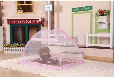 自彈式免安裝夏天防蚊嬰兒床蚊帳嬰兒蚊帳幼兒蚊帳嬰兒蒙古包蚊帳預防登革熱方便攜帶容易收納