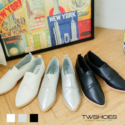 Twshoes津鞋《質感真皮》舒適柔軟尖頭包鞋‧3色【K120B2273】