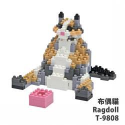 【Tico微型積木】布偶貓 Ragdoll T-9808