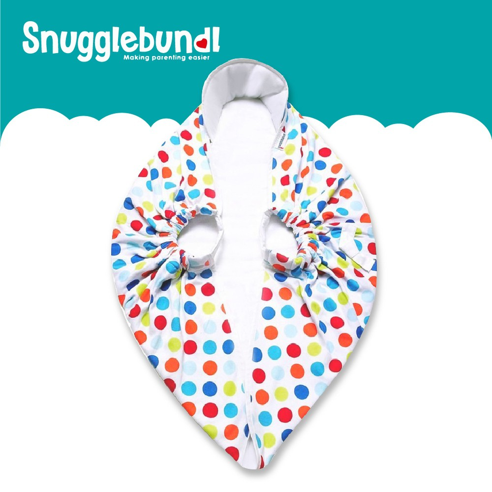 SnuggleBundl 英國多功能嬰幼兒包巾(彩色點點)E-55632-00-FF