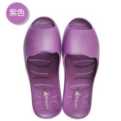 (MONZU)零著感一體成型防滑魚口室內外拖鞋-紫色