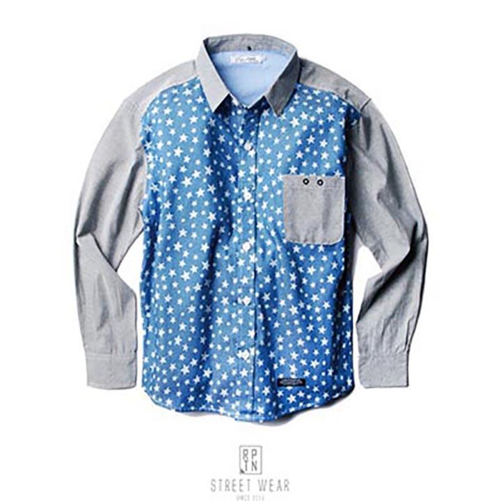 REPUTATION American Star Stitching Shirts - 美式拼接星星襯衫