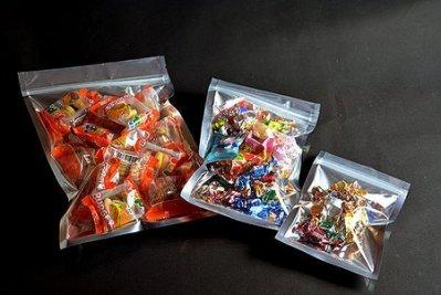 《達人包裝》半面鋁箔夾鏈平袋(無吊孔) 15*24cm /50入/165元〈糖果餅乾袋,蜜餞袋,文具袋,飾品袋〉