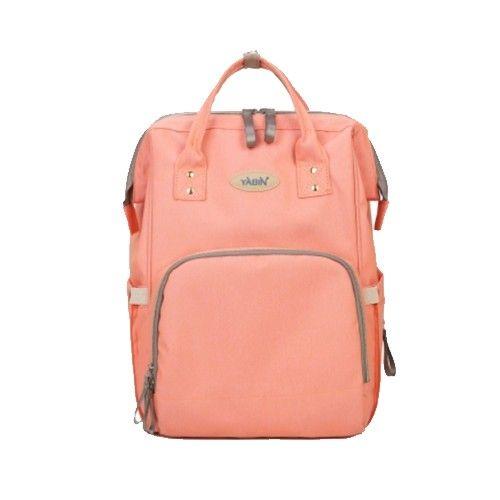 YABIN - 經典大開口媽媽後背包-粉色