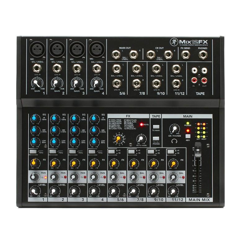 Mackie MIX12 FX 12軌帶效果器優質混音器 【音響世界】