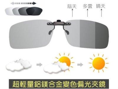鋁鎂合金 超輕量 偏光變色 太陽眼鏡夾片 / 太陽眼鏡夾鏡 / 眼鏡夾 / 夾式太陽眼鏡 / 夜視鏡 夾片 夾鏡