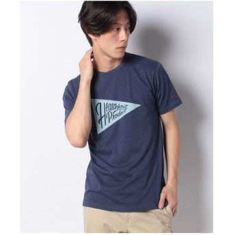 ikka Healthknit Product ヘルスニットプロダクトプリントTシャツ(ネイビー)