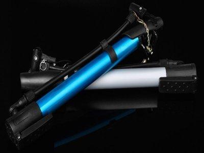 【珍愛頌】B015 自行車打氣筒 加贈法式氣嘴轉接頭 攜帶式鋁合金打氣筒 攜帶型打氣筒 隨車式 單車打氣桶 單車 手持式