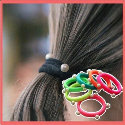 八號倉庫  髮飾 韓版頭飾 髮飾 基礎款珍珠髮圈 頭花 頭繩 紮頭髮皮筋【2F245Y512】