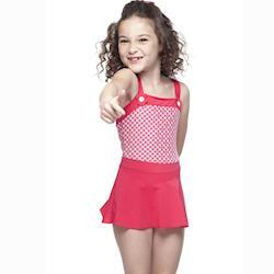 【SAIN SOU】女童連身裙泳裝附泳帽A88408