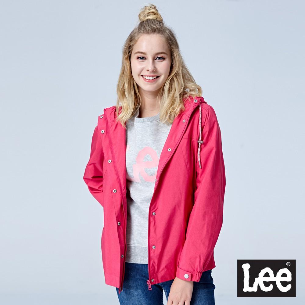 Lee 連帽風衣外套 女 桃紅 Mainline
