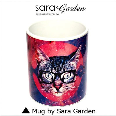 客製化 馬克杯 陶瓷杯 彩繪 銀河 圖騰 貓咪 Sara Garden