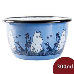 Muurla 嚕嚕米點心碗 夜遊草原 寶藍 300ml