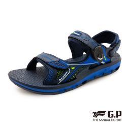 G.P 透氣舒適磁扣兩用涼拖鞋G9251-寶藍色(SIZE:37-44 共三色)