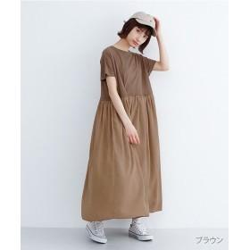 メルロー ドッキングカットソーワンピース レディース ブラウン FREE 【merlot】