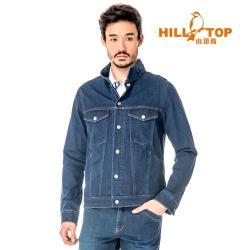 【hilltop山頂鳥】男款吸濕排汗抗UV牛仔外套S02M91-深藍