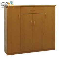 文創集-多亞 環保4.3尺塑鋼四門單抽鞋櫃/玄關櫃-5色可選