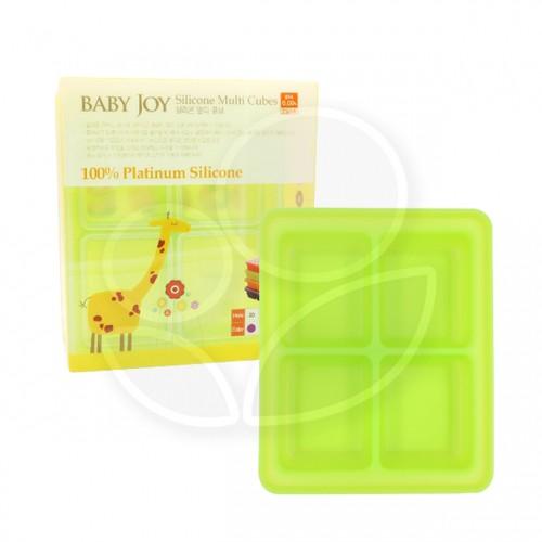 朴蜜兒 韓國BabyJoy鉑金矽膠副食品製冰盒 - 4格款【佳兒園婦幼館】