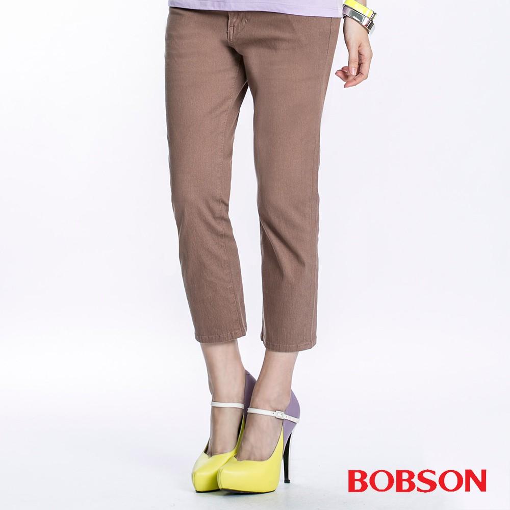 BOBSON 女款高腰套染七分褲(197-71)