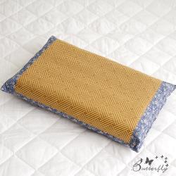 BUTTERFLY-台灣製造-天然健康亞藤織面淹水石枕頭一入-藍