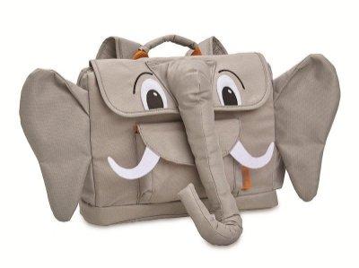 美國Bixbee 3D動物童趣系列 溫柔粉灰象小童背包