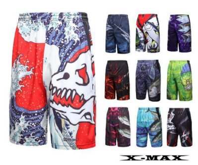 特價299-排汗王~X-MAX~X1781男款全彩休閒短褲~休閒褲~玩水~出國~海邊~釣魚~獨特~