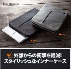 SANWA SUPPLY 時尚平板筆電內袋 氣墊型(減震氣墊防水拉鍊13.3吋)