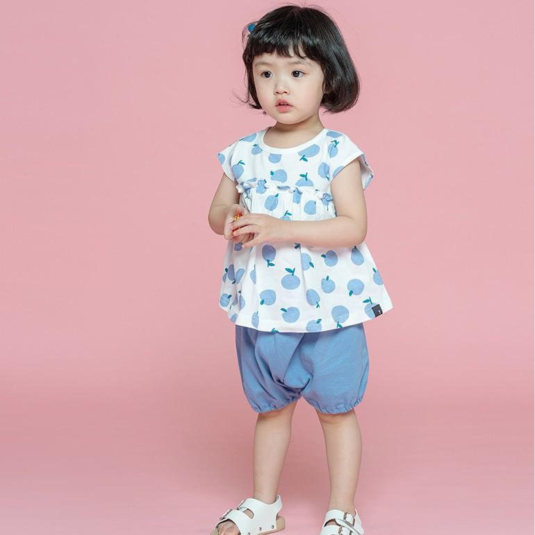 韓國 Cordi-i 幼兒純棉外出套裝-藍蘋果[免運費]