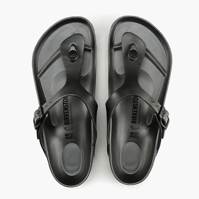 德國 BIRKENSTOCK 勃肯 ㄧ體成型 EVa 防水夾腳拖鞋 -鐵灰色