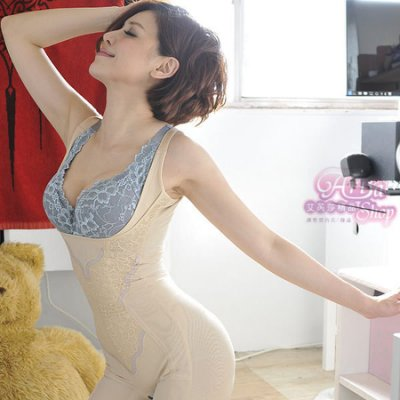 《艾芮莎精品》No.1521 頂級強效3D塑形 收脂醫療布840丹暴瘦四角連身束衣 可多次修改(S/M/L)