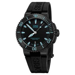 Oris Aquis 時間之海中型潛水錶-藍時標x黑/43mm 0173376534725-0742634BEB