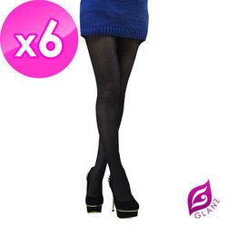 【GLANZ 格藍絲】70D 小惡魔防勾纖腿亮光襪X6件組