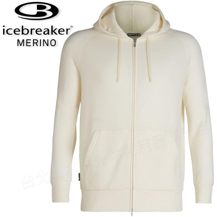 Icebreaker 羊毛連帽外套/中層衣/美麗諾羊毛/旅遊 TABI PARKA 中性款 104234 101 白色