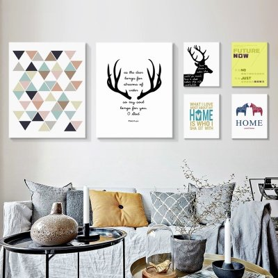 創意 家飾 木質 裝飾畫 照片牆北歐小清新裝飾畫客廳沙發背景墻創意掛畫臥室餐廳英文字母無框畫