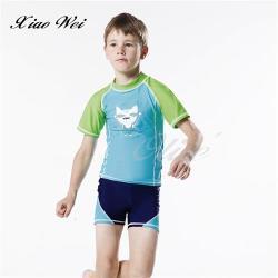 梅林品牌 時尚游泳短袖上衣二件式泳裝 NO.M7221