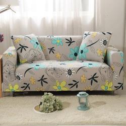 生活家飾-花葉寄情彈性沙發套1人座