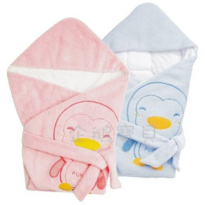 @企鵝寶貝@ 藍色企鵝 PUKU 暖暖包巾 (P26322)