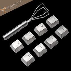 狼派 電競機械鍵盤不鏽鋼全金屬鍵帽-附取鍵器(K6)