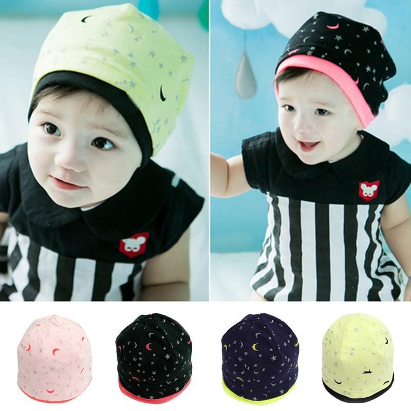 韓國寶貝女孩男孩兒童可愛月亮星星童帽嬰兒棉軟帽子【IU貝嬰屋】