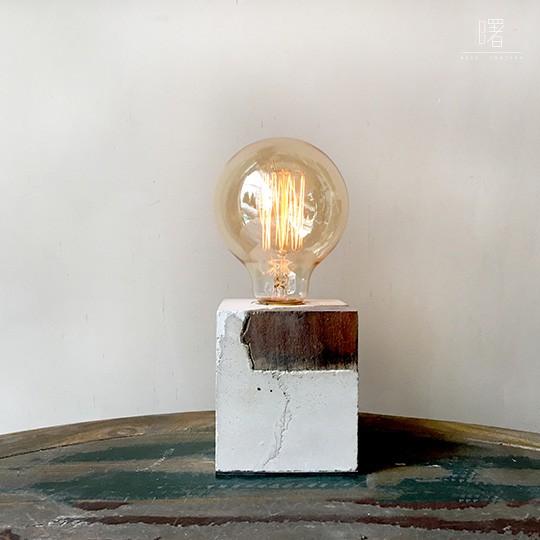 【曙】異材質混搭 可調光 簡約水泥質感桌燈 造型檯燈 Loft 工業風 咖啡廳 民宿 餐廳 居家擺設