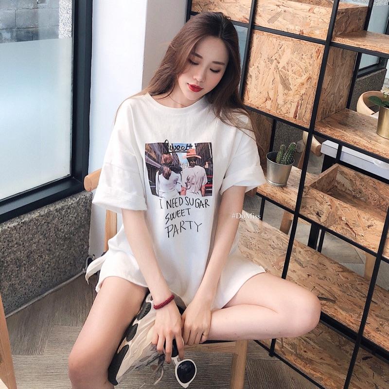 DoMiss(現貨)美式休閒oversize圖T-寬鬆短袖T恤 短袖上衣 印花T恤 歐美T 情侶裝 情侶衣