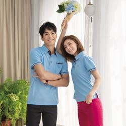 【LEIDOOE】細針組織布花紋領男短袖衫Polo衫16726